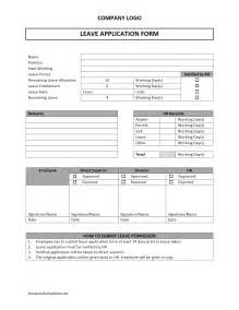 Doc Form Templates doc 12401754 sle leave application form sle