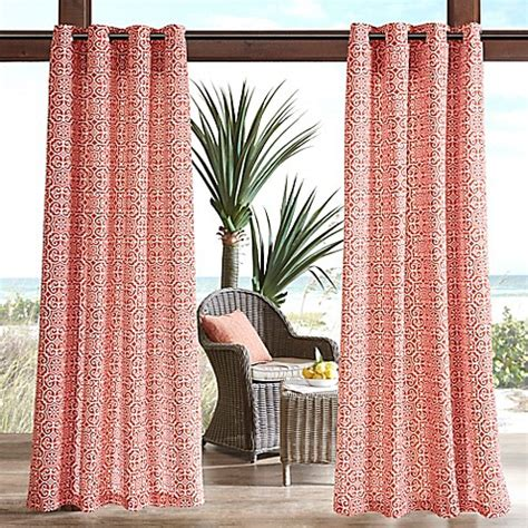 red outdoor curtains buy madison park aptos printed fret 3m scotchgard 84 inch