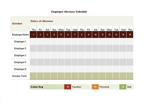 employee leave schedule template vacation schedule templates 10 free word excel pdf
