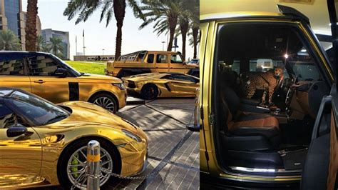 golden super cars this arab billionaire collects gold supercars and has a
