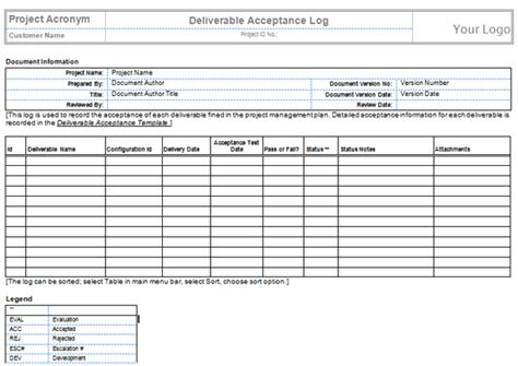 project deliverable template deliverables template free printable