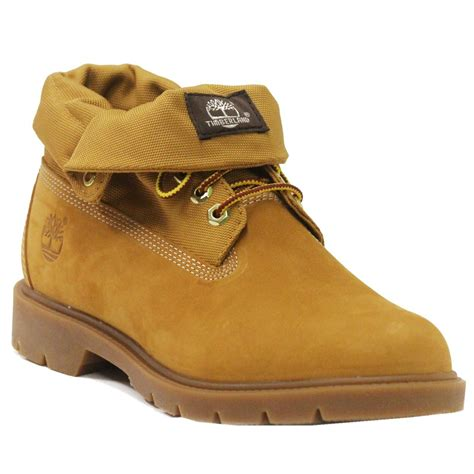 timberland boots roll top mens timberland basic roll top wheat mens boots ebay