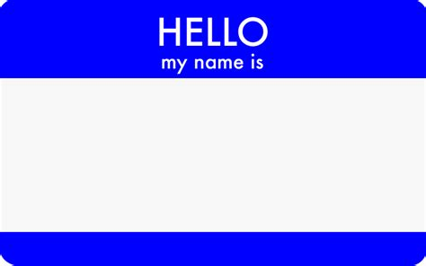 hello my name is template hello my name is nomoniker net