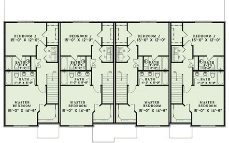 fourplex floor plans country four plex 60620nd architectural designs