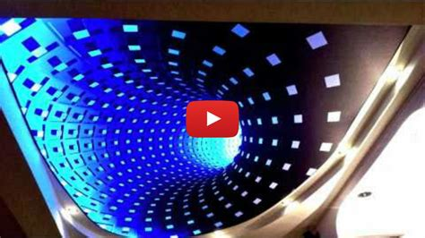 rgb led light installation new 3d effect technology on stretch ceiling clipso with