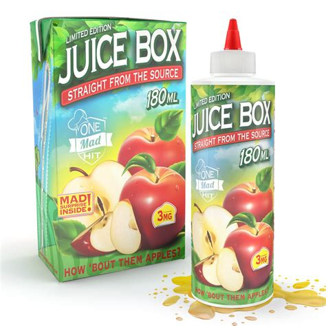 Sale Eliquid E Liquid The Juice Box Blue Honeydew juice box e juice 180ml one mad hit e liquid the best vape