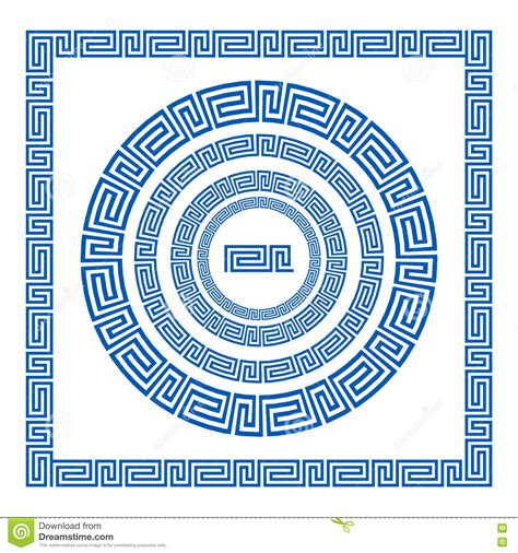 greek pattern brush set of vector brushes to create greek meander patterns and