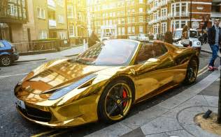 new gold car chrome gold 458 spider one of the most unique