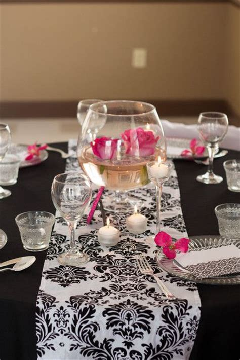 Damask Decorations by 92 Best Pink And Black Wedding Ideas Images On