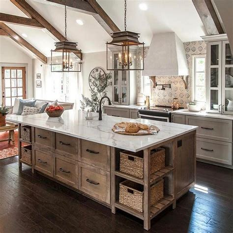 farmhouse kitchens ideas rustic kitchen farmhouse style ideas 23 decomg