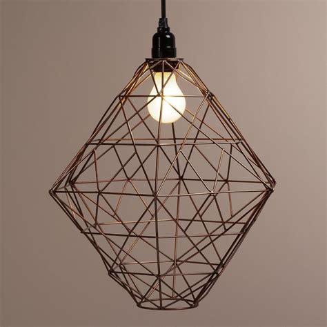 Pendant Light Wire Copper Hexagon Twisted Wire Pendant L