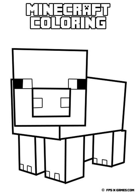 coloring pages minecraft minecraft coloring pages animals coloring home