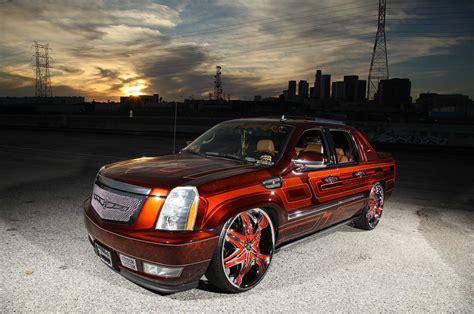 Custom Cadillac Escalade Ext by A 2008 Cadillac Escalade Ext On Diablo Wheels Lowrider