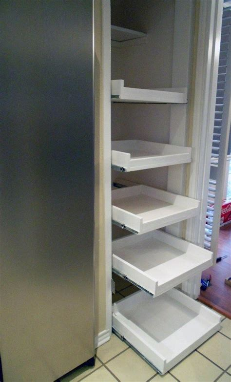 How To Build Pull Out Shelves For Kitchen Cabinets Pull Out Pantry Shelves Diy For The Home