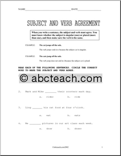 Subject Verb Agreement Worksheets High School by 11 Best Images Of Verbs Worksheets For High School