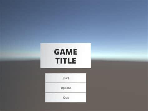 design menu in unity game jam menu template asset store