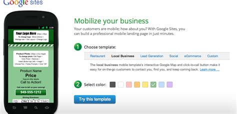 mobile landing page builder build mobile landing pages for free ppc