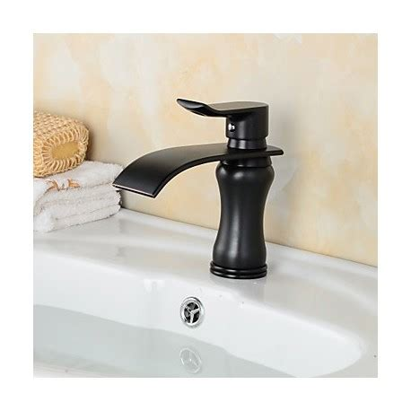Modern Black Bathroom Sink Faucet Contemporary Style Orb Single Handle One And Cold