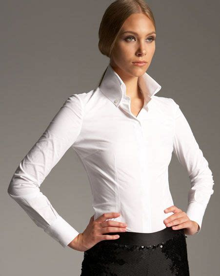 Blouse Fadim Jumbo White 11 clothing tricks small breasted should consider collar shirts wardrobes and striped linen