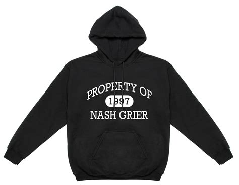 Get Mendess Charitable And Hoodie by Nash Grier Property Of Nash Grier Hooded Sweatshirt Blv