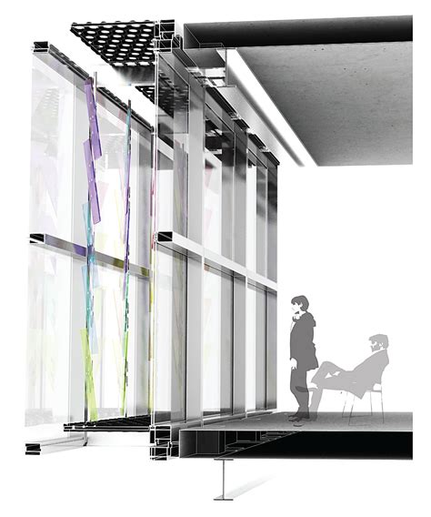 Glass Wall Section by Dichroic Curtain Wall Drapac Archinect