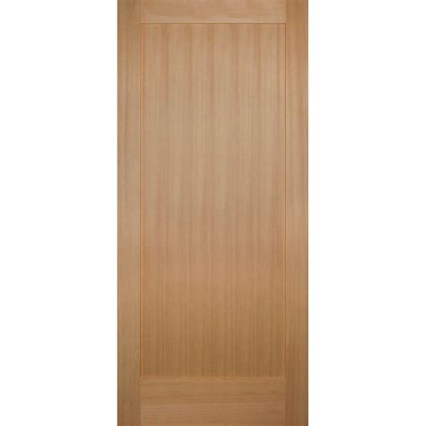 Hemlock Interior Doors Builder S Choice 36 In X 80 In 1 Panel Shaker Solid Hemlock Single Prehung Interior Door