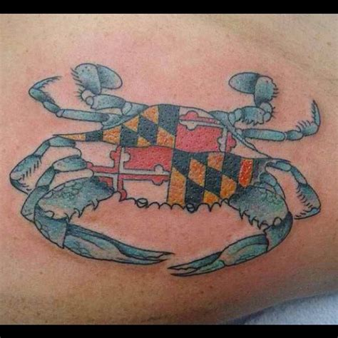 maryland crab tattoo blue crab maryland flag tattoos