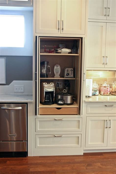 appliance cabinets kitchens best 20 kitchen appliance storage ideas on pinterest
