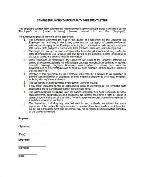 9 Employee Confidentiality Agreement Templates Sles Doc Pdf Free Premium Templates Generic Employment Contract Template