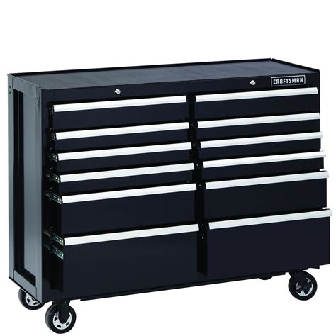 craftsman 12 drawer tool box 52 inch 12 drawer premium heavy duty rolling cart in