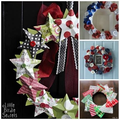 How To Make A Paper Wreath - 96 beautiful wreaths to make free patterns tip junkie