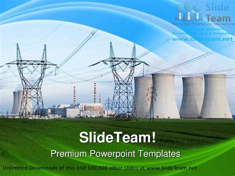 Energy Powerpoint Templates by Nuclear Power Station Technology Powerpoint Templates