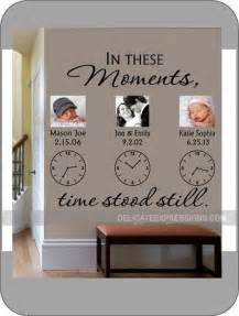 Personalized Name Stickers For Walls in these moments time stood still personalized wall decal