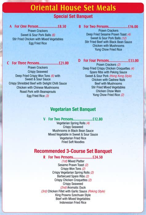 oriental house menu menu for oriental house chinese food takeaway in netherfield