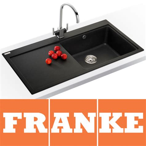 Franke Granite Kitchen Sinks Franke Mythos 1 0 Bowl Granite Onyx Black Kitchen Sink Mtg611 Lhd Franke Tap Ebay