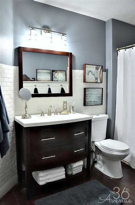 home design idea bathroom ideas gray and white the 36th avenue home decor bathroom makeover the