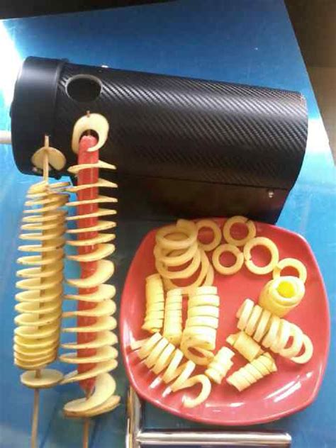 Pisau Ulir Kentang Jual Pisau Ulir 5 In 1 Kentang Spiral Potato Chips Potato Rings Potato Curly