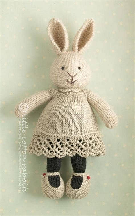how to knit tiny animals 25 best ideas about cotton rabbits on