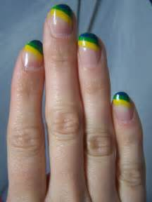 colored manicure concrete and nail s tri color manicure