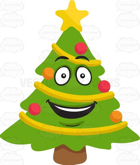 happiest christmastree a happy tree clipart vector