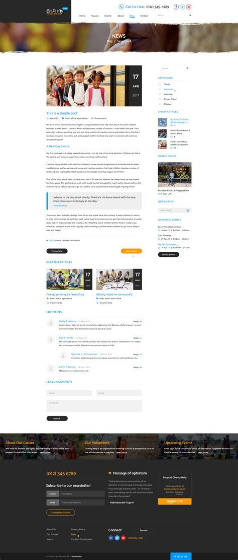 blogger templates for ngo charity help ngo charity fundraising psd template by
