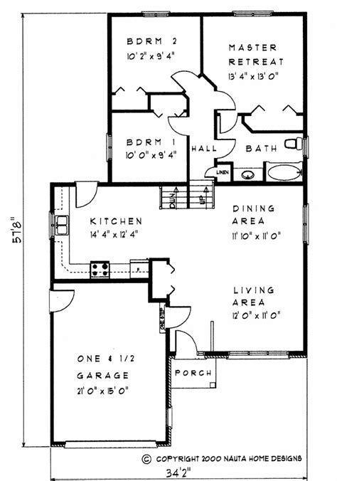 Back Split House Plans by 3 Bedroom Backsplit House Plan Bs118 1250 Sq