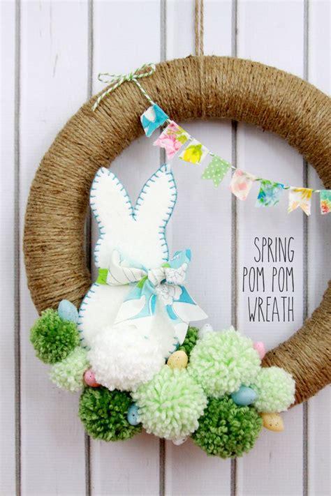 easter crafts and diy decor ideas pom pom wreath