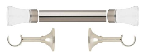 select curtain rods select acrylic flare 1 3 16 quot metal curtain rod set