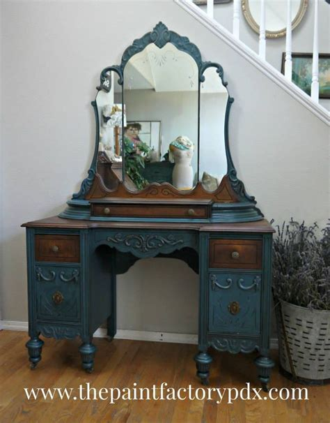 chalk paint vintage furniture before after vanity stylish patina www