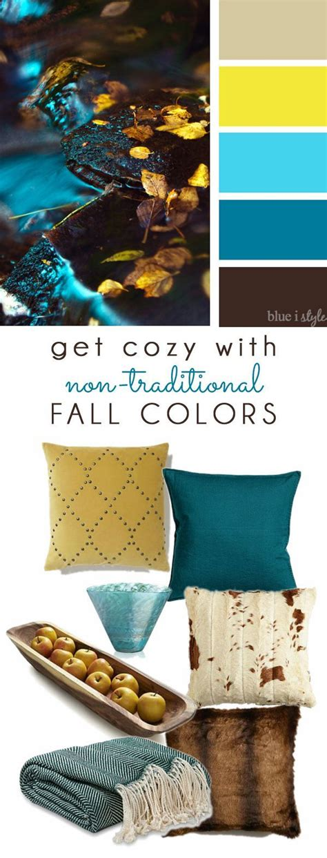 brown and teal home decor decorating with style get cozy with non traditional fall