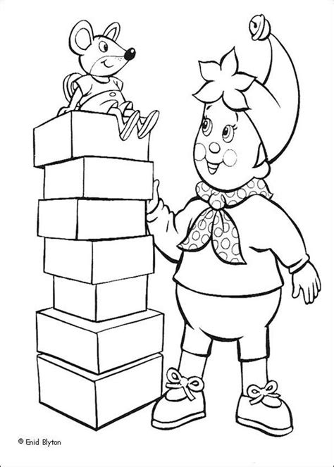 noddy coloring pages games noddy and clockwork mouse coloring pages hellokids com