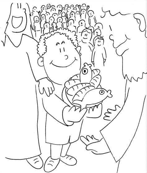 printable coloring pages jesus feeds 5000 he 5 000 coloring pages