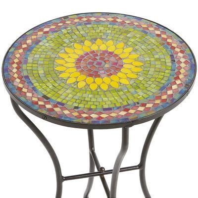 outdoor mosaic accent table sunflower mosaic accent table pier 1 imports