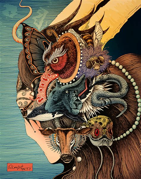 japanese illustration now incredibly detailed japanese inspired illustrations of animals designtaxi com